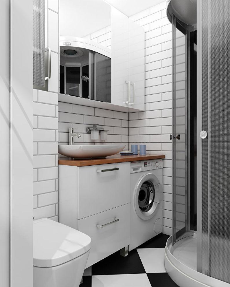 Дизайн ванной комнаты в хрущевке - скандинавский стиль интерьера