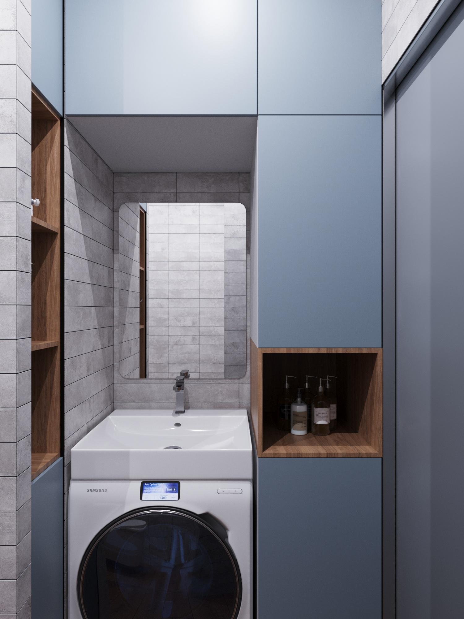 Фото № 15: 20 вариантов оформления ванной в сером цвете