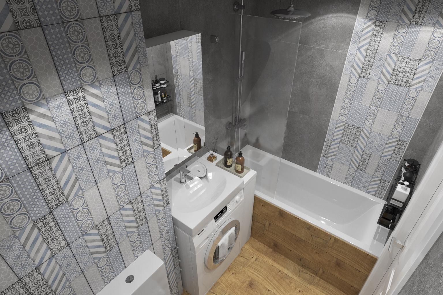 Фото № 14: 20 вариантов оформления ванной в сером цвете