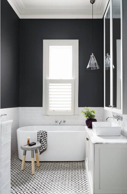 Черно-белые стены