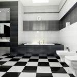 Черная плитка в современном интерьере