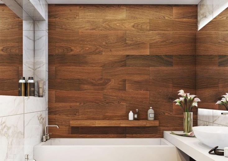 Плитка под цвет дерева — надежный и эффектный материал для облицовки