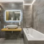 Серая плитка в ванной: плитка темно-серого и светло-серого цвета в ванной комнате