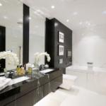 100 лучших идей: черно-белая ванная комната на фото