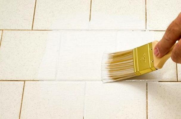 краска для плитки на кухне