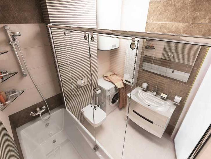 ремонт в маленькой ванной совмещенной с туалетом