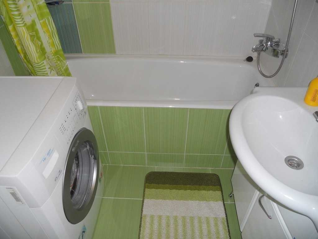 Дизайн ванной комнаты маленького размера без туалета