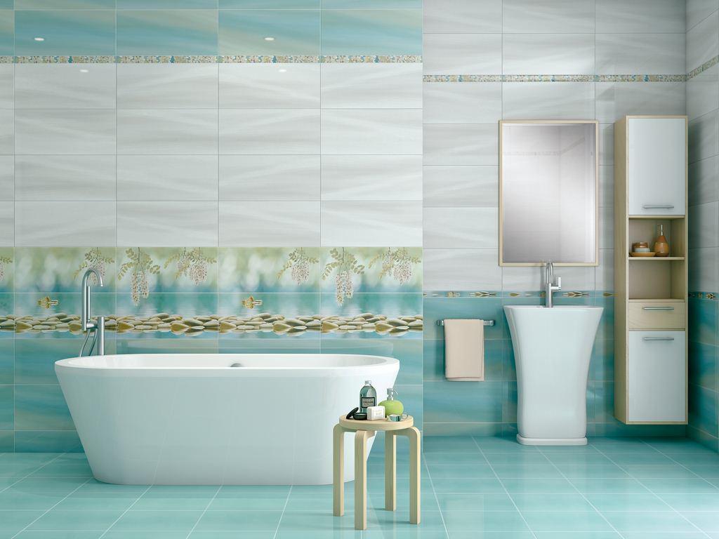 Оформление ванной комнаты плиткой: фото идеи обустройства