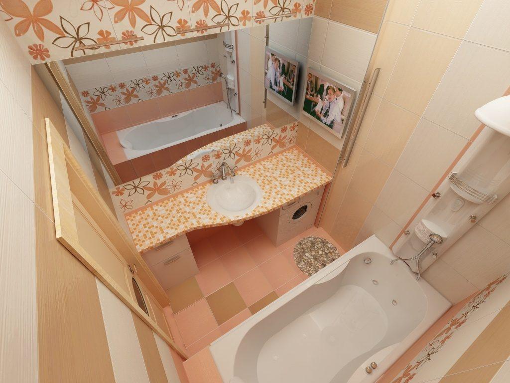 Дизайн ванной комнаты в хрущевке без туалета