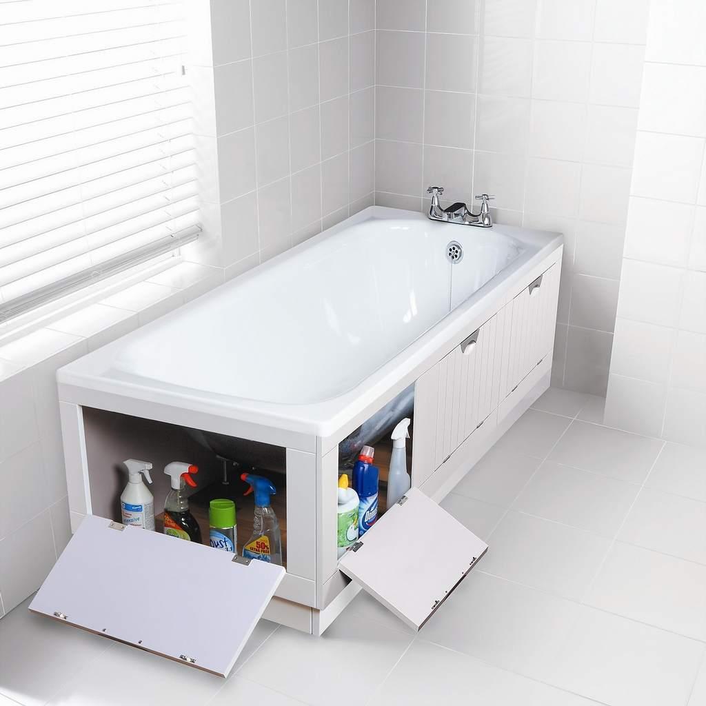 Экран для ванны своими руками из панелей