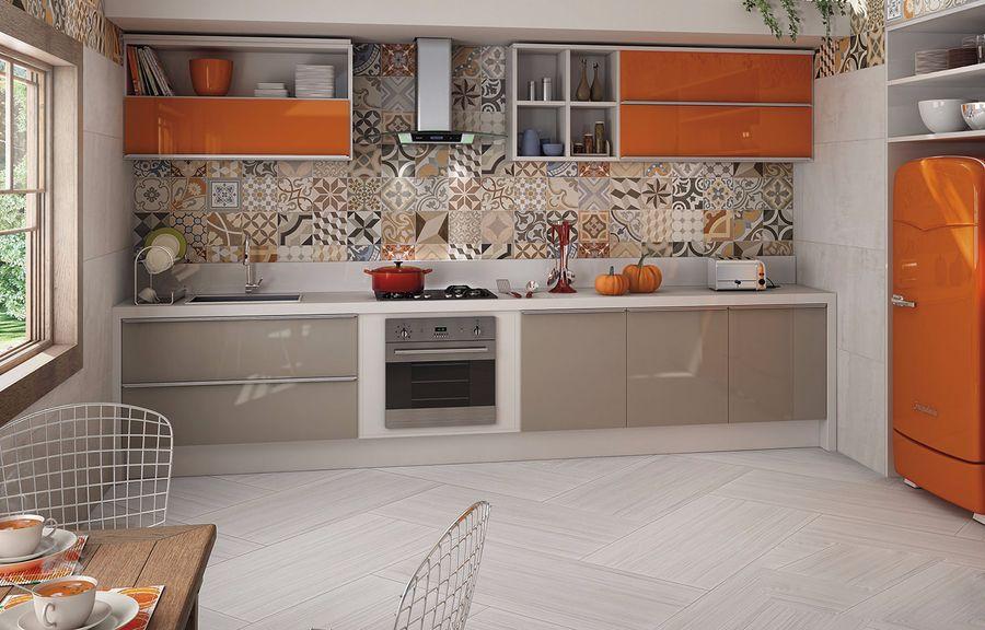 Плитки для кухни на стену, фартук
