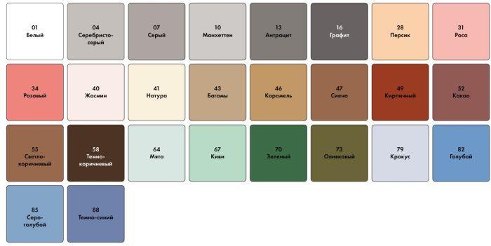 цвета фуги для плитки