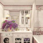 Плитка в ванную в стиле прованс – фото стильных и красивых идей оформления
