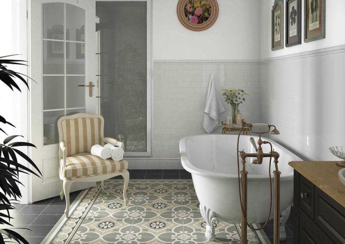 плитка в стиле прованс для ванной